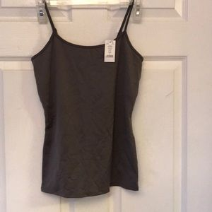 Whit house black market gray scoop neck cami sz S
